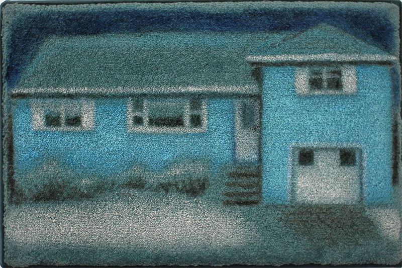 Jane Dickson Almost Home Oilstick on acrylic carpet