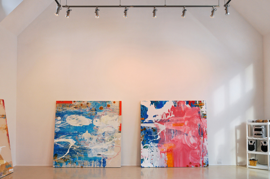 Installation Views Lotus Rising no. 17, no.19  (L to R )