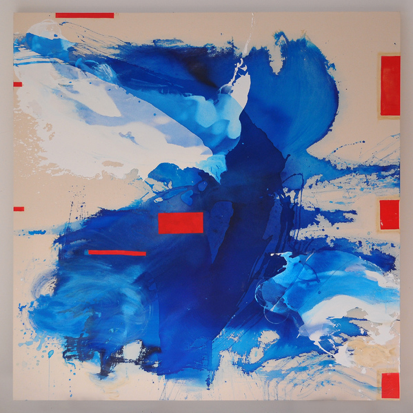 Selected Paintings Blue Crystals Revisited no.7