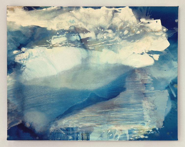 Selected Paintings Blue Crystals Revisited no.11