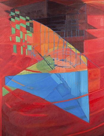 JANET OLNEY 2011 oil on canvas