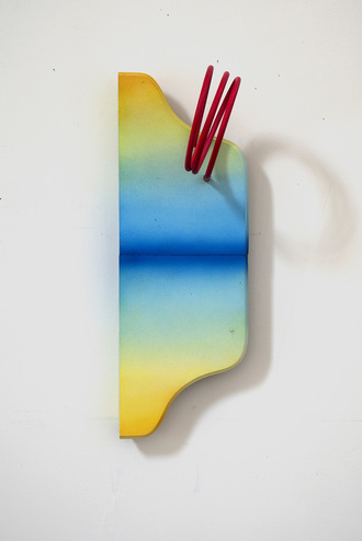 JANET OLNEY 2017 acrylic and steel on wood