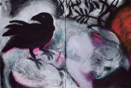 JAN HARRISON Pastel/Paper Paintings 1993-2019   Animals in the Anthropocene    charcoal, oilstick and pastel on rag paper