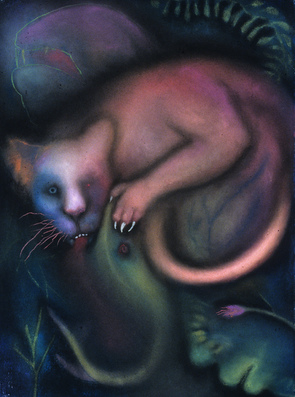 JAN HARRISON Pastel/Paper Paintings 1993-2021   Animals in the Anthropocene    pastel and colorpencil on rag paper
