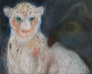 JAN HARRISON Pastel/Paper Paintings 1993-2021   Animals in the Anthropocene    pastel, charcoal, and ink on rag paper