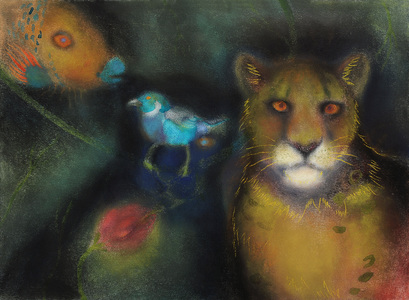 JAN HARRISON Pastel/Paper Paintings 1993-2021   Animals in the Anthropocene    pastel, ink, and charcoal on rag paper