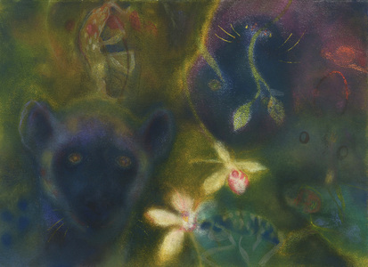 JAN HARRISON Pastel/Paper Paintings 1993-2019   Animals in the Anthropocene    pastel, ink, and charcoal on rag paper