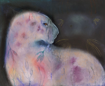 JAN HARRISON Pastel/Paper Paintings 1993-2019   Animals in the Anthropocene    charcoal, pastel and ink on rag paper