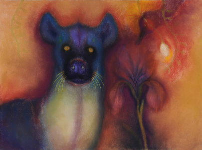 JAN HARRISON Pastel/Paper Paintings 1993-2021   Animals in the Anthropocene    pastel and ink on rag paper