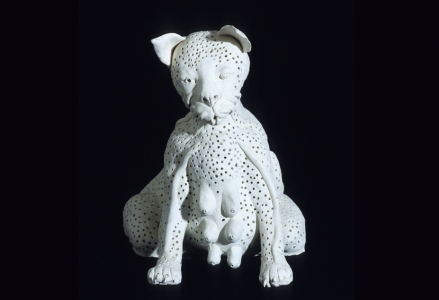 JAN HARRISON Animal Tongues - Early Sculpture: Installation fired white terra-cotta
