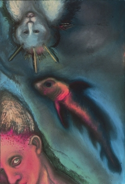 JAN HARRISON Early Paintings 1980's pastel, oilstick and colorpencil on lavis fidelis paper