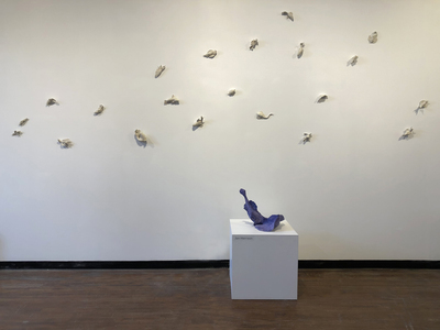 JAN HARRISON Recent Sculpture and Installation Installation View: fired porcelain and ink sculptures