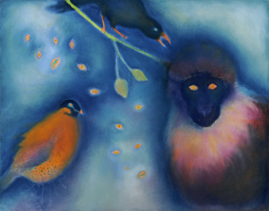 JAN HARRISON Pastel/Paper Paintings 1993-2019   Animals in the Anthropocene    pastel and ink on rag paper