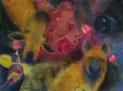 JAN HARRISON Pastel/Paper Paintings 1993-2019   Animals in the Anthropocene    pastel, charcoal, ink and colorpencil on rag paper