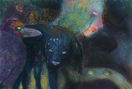 JAN HARRISON Pastel/Paper Paintings 1993-2020   Animals in the Anthropocene    pastel, charcoal, ink and colorpencil on rag paper