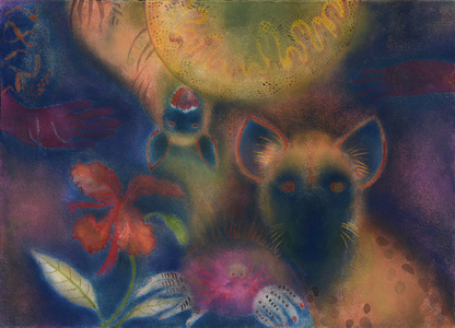 JAN HARRISON Pastel/Paper Paintings 1993-2021   Animals in the Anthropocene    pastel. ink, colorpencil, and charcoal on rag paper