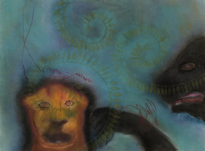 JAN HARRISON Pastel/Paper Paintings 1993-2021   Animals in the Anthropocene    pastel, ink, colorpencil and charcoal on rag paper