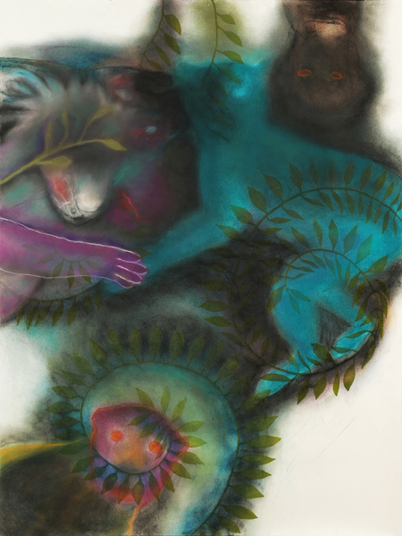 JAN HARRISON Pastel/Paper Paintings 1993-2020   Animals in the Anthropocene    pastel, ink, and charcoal on lavis fidelis rag paper
