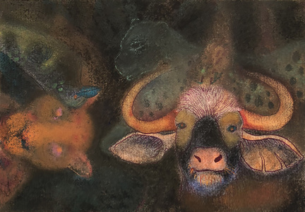 JAN HARRISON Pastel/Paper Paintings 1993-2020   Animals in the Anthropocene    pastel and ink on rag paper