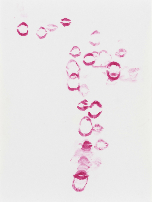 JANICE SLOANE This Could Be You -Lipstick mouth prints 2021 lipstick mouth print on paper