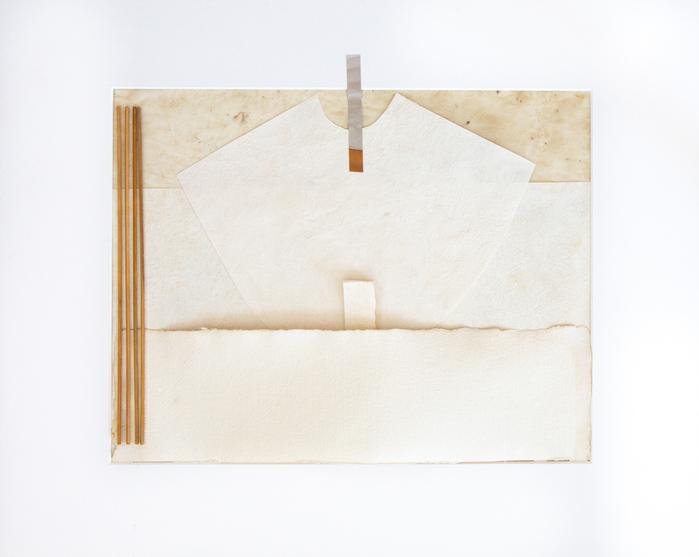JANICE STANTON INSPIRED BY SCULPTURE parchment, handmade papers, bamboo sticks