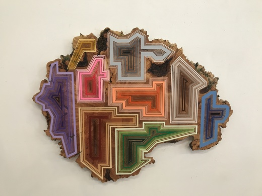 JASON MIDDLEBROOK wall works Acrylic on Curly Maple