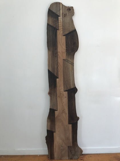 JASON MIDDLEBROOK planks Acrylic on American Elm