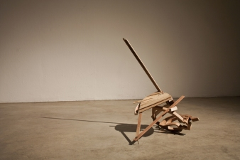 Sculpture Wood (plywood, walnut, cherry, maple, and oak), Copper, Galvanized Wire