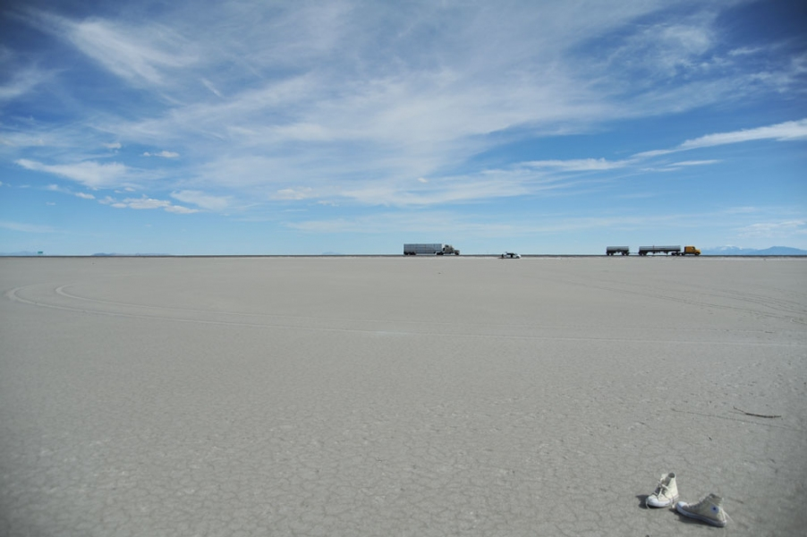 Cleansing the Memories <br>The Bonneville Salt Flats, Utah 2010<br> The last trip for the video performance