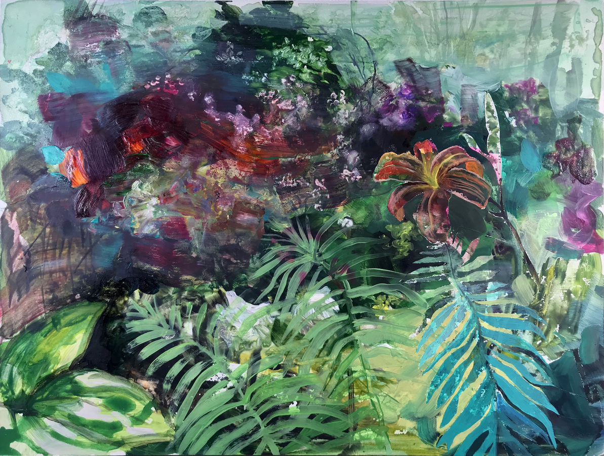 Paintings Daylilies and Ferns