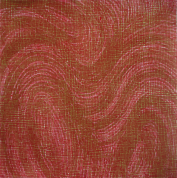 WORK ON PAPER Boom (red wave)
