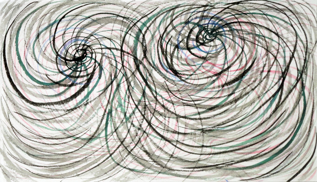 SMALL WORK ON PAPER Untitled/double spiral