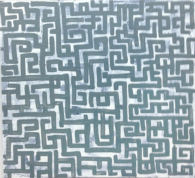 PAINTINGS Grey Maze