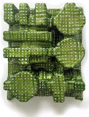 Jean Foos PAINTED SCULPTURE oil paint on formed paper packing material