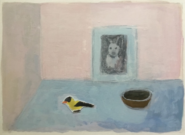 painting Still life with goldfinch