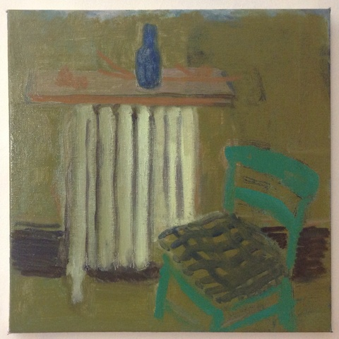 painting Green chair in the dining room