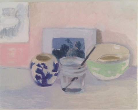 painting Lois Dodd postcard still life