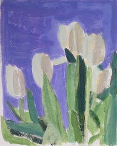 Jean Smith Flowers acrylic on paper