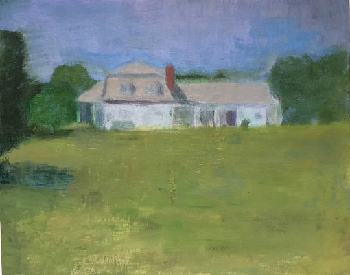 Jean Smith landscapes oil on panel