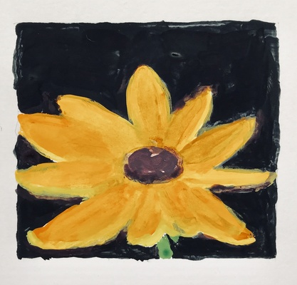 Jean Smith Flowers acrylic gouache