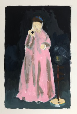 Jean Smith after famous paintings Acrylic gouache on Bristol
