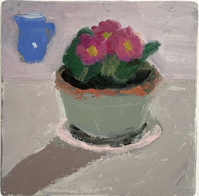 Jean Smith Flowers Oil on panel