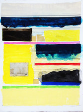 Jeff Green works on paper mixed media on paper