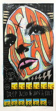 Jeff Green Trash Art Mixed media on salvaged Print Mafia poster