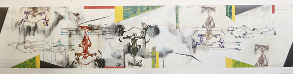 JEFFREY BISHOP NEW WORK ON PAPER Acrylic and Collage on Synthetic Paper