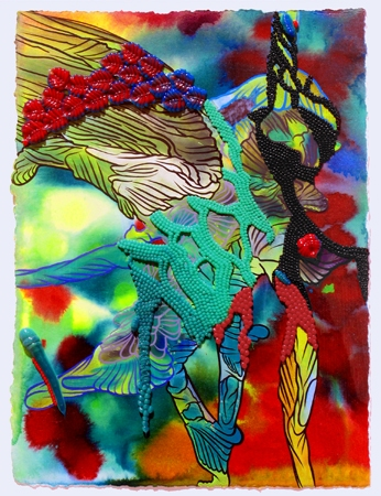 Works on Paper acrylic, oil, pigmented silicone on paper