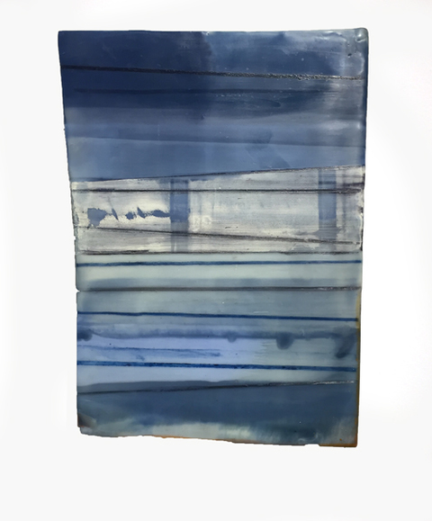 Jeffrey Hirst Inland Steel 2015-Present Encaustic and Oil on shaped panel