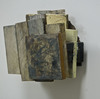 reAssemblages wood, beeswax, resin, pigment, drypoint