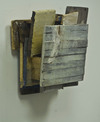 reAssemblages wood, beeswax, resin, pigment, fabric