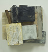 reAssemblages beeswax, resin, pigment, collagraph, silkscreen